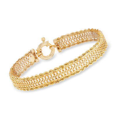 Italian Infinity-Link Bracelet in 14kt Yellow Gold