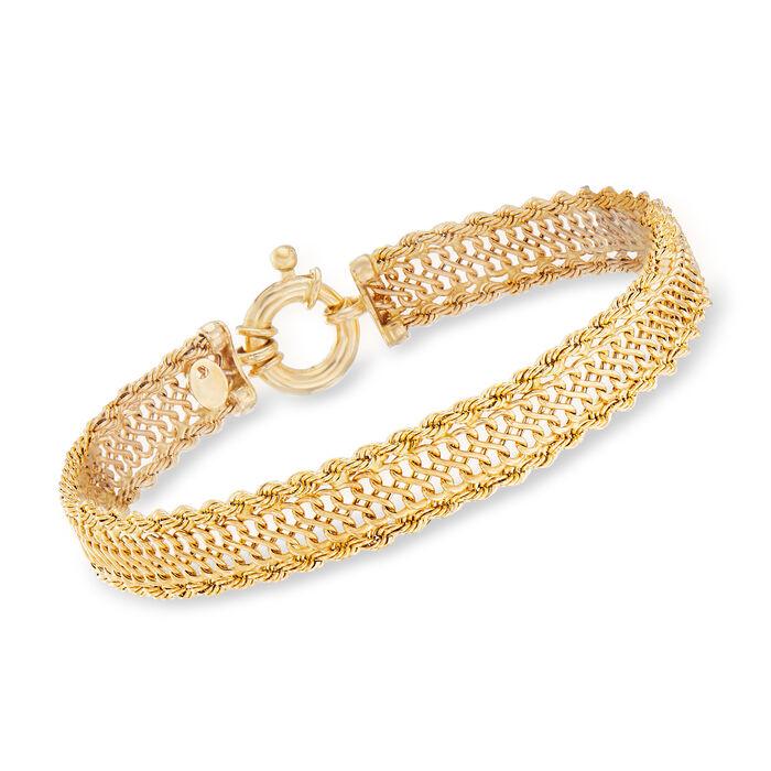 Italian Infinity-Link Bracelet in 14kt Yellow Gold, , default