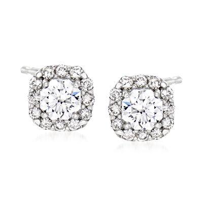 C. 2000 Vintage .64 ct. t.w. Diamond Stud Earrings in Platinum