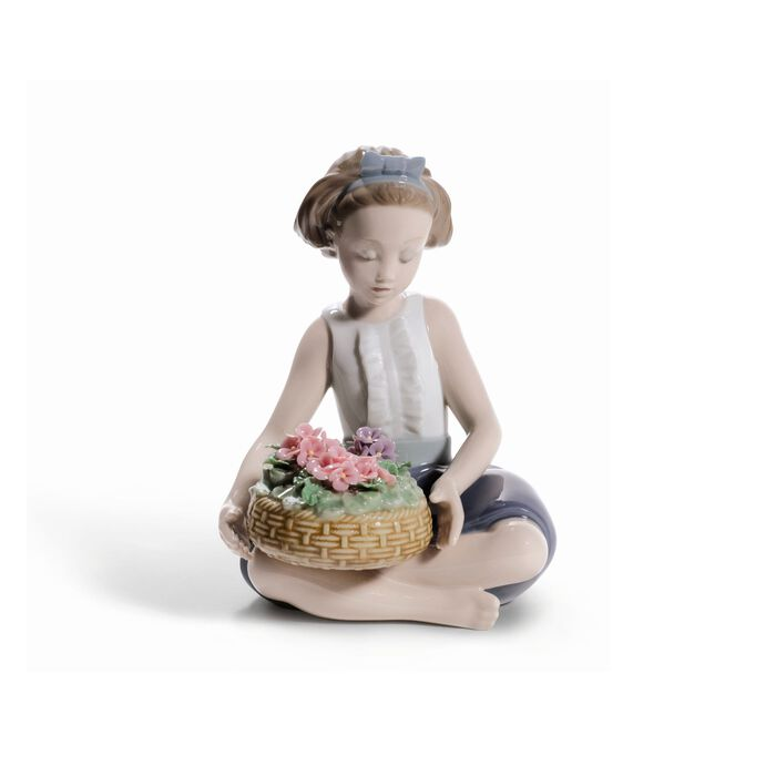 "Lladro ""Arranging Flowers"" Porcelain Figurine, , default"
