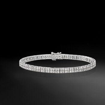 3.00 ct. t.w. Diamond Two-Row Bracelet in Sterling Silver, , default