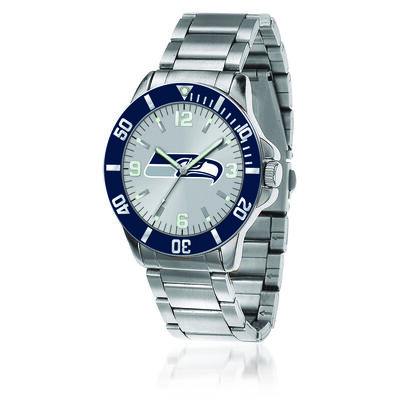 Men's 46mm NFL Seattle Seahawks Stainless Steel Key Watch