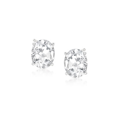 5.25 ct. t.w. Rock Crystal Oval Earrings in Sterling Silver