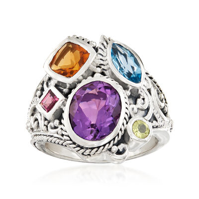 4.20 ct. t.w. Multi-Stone Ring in Sterling Silver, , default