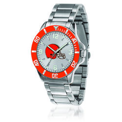 Men's 46mm NFL Cleveland Browns Stainless Steel Key Watch, , default