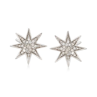 .50 ct. t.w. Diamond Star Earrings in Sterling Silver, , default