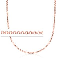 Belle Etoile 2mm 14kt Rose Gold Over Sterling Silver Rolo Chain, , default