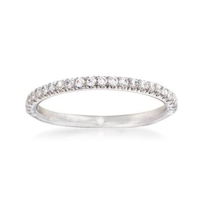 Gabriel Designs .24 ct. t.w. Diamond Wedding Ring in 14kt White Gold, , default