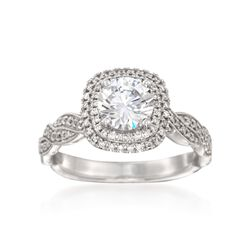 Simon G. .25 ct. t.w. Diamond Engagement Ring Setting in 18kt White Gold, , default