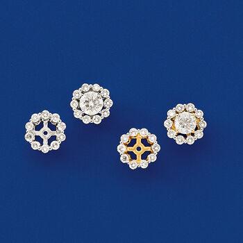 .40 ct. t.w. Diamond Earring Jackets in 14kt White Gold, , default