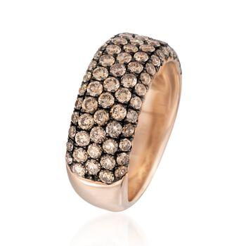 Henri Daussi 1.80 ct. t.w. Brown Diamond Wedding Ring in 18kt Rose Gold