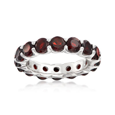 4.50 ct. t.w. Garnet Eternity Band in Sterling Silver, , default