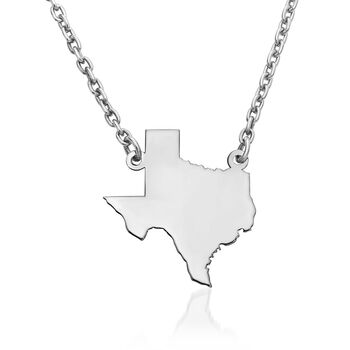 Sterling Silver U.S. State Necklace, , default