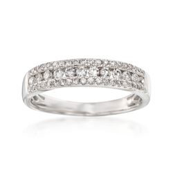 .50 ct. t.w. Diamond Three-Row Ring in 14kt White Gold, , default