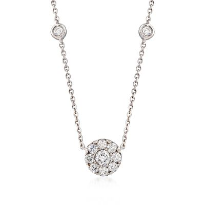 Gregg Ruth .42 ct. t.w. Diamond Necklace in 18kt White Gold, , default