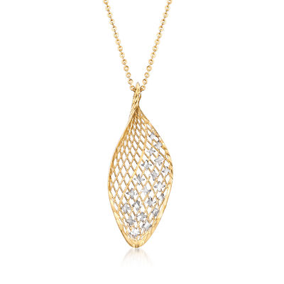 Italian 18kt Yellow Gold Openwork with Stars Necklace, , default