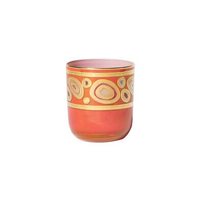 """Vietri """"Regalia"""" Orange Double Old-Fashioned Glass"""
