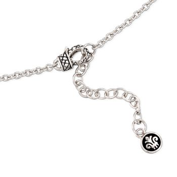 """Andrea Candela """"Enamorada"""" Sterling Silver Station Necklace with Diamond Accents. 28"""", , default"""