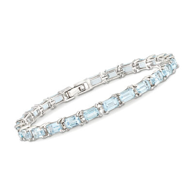 15.00 ct. t.w. Sky Blue Topaz Tennis Bracelet in Sterling Silver