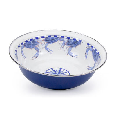 "Golden Rabbit ""Blue Crab"" Serving Bowl"