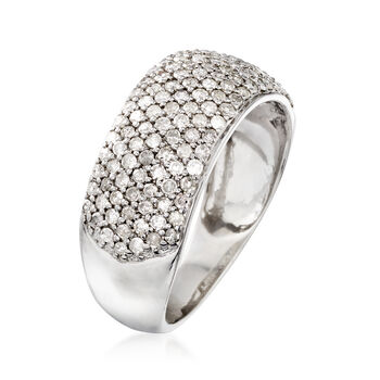 1.00 ct. t.w. Pave Diamond Ring in Sterling Silver