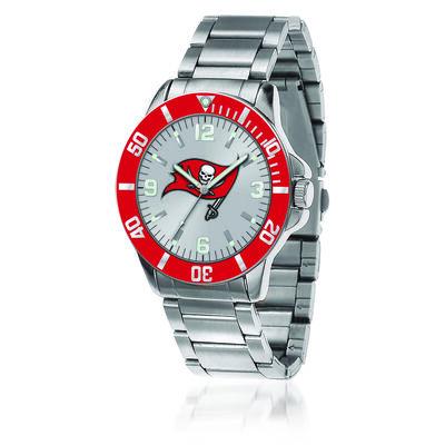 Men's 46mm NFL Tampa Bay Buccaneers Stainless Steel Key Watch, , default