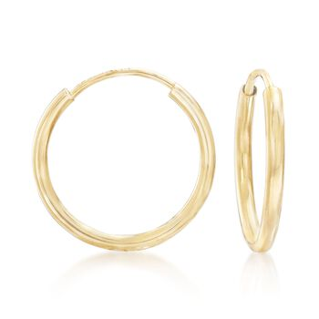 "14kt Yellow Gold Hoop Earrings. 1/2"", , default"