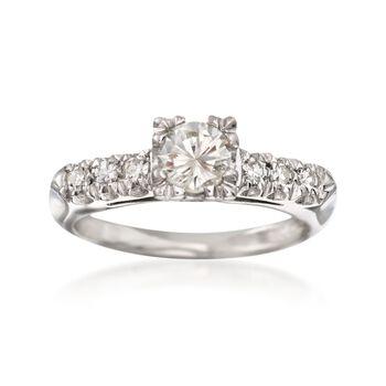 C. 2000 Vintage .61 ct. t.w. Diamond Engagement Ring in Platinum. Size 4.75, , default