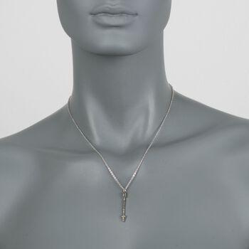 ".24 ct. t.w. Peridot Arrow Pendant Necklace in Sterling Silver. 16"", , default"