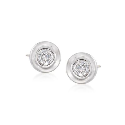 .12 ct. t.w. Diamond Stud Earrings in 14kt White Gold, , default