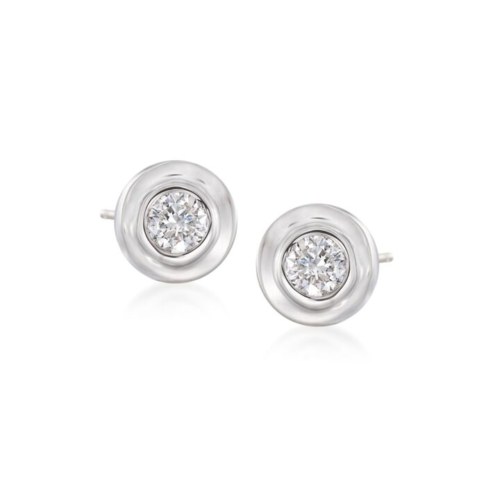 .12 ct. t.w. Diamond Stud Earrings in 14kt White Gold