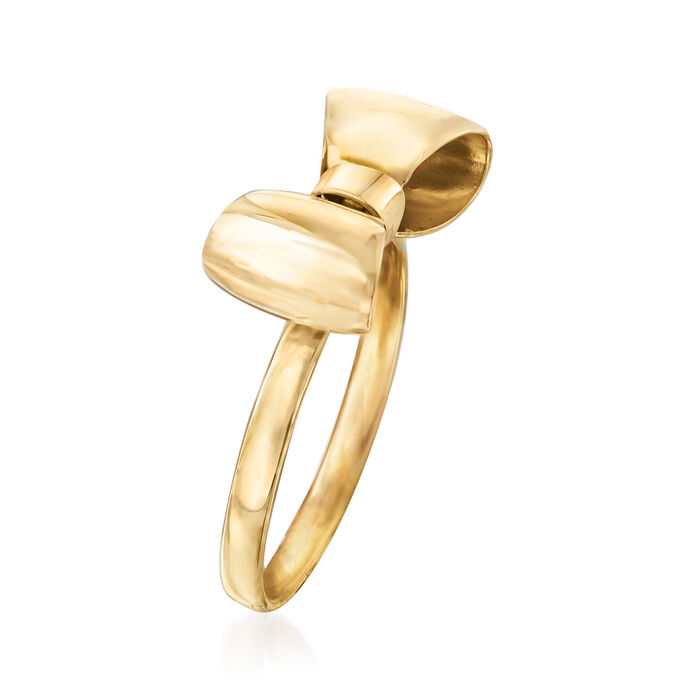 Italian 14kt Yellow Gold Bow Ring