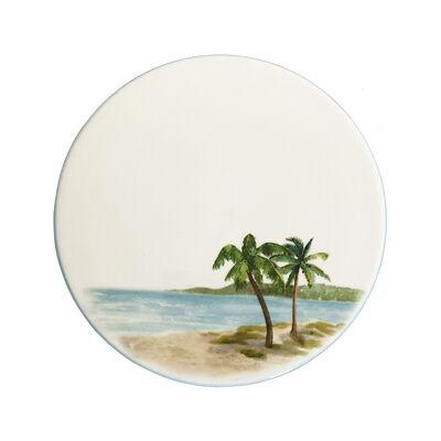 "Abbiamo Tutto Italian ""Palm Breezes"" Ceramic Trivet/Cheeseboard, , default"