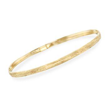 "Italian 14kt Yellow Gold Multi-Finish Jewelry Set: Six Bangle Bracelets. 7.5"", , default"