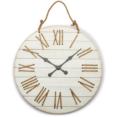 Wooden Roman Numeral Wall Clock, , default