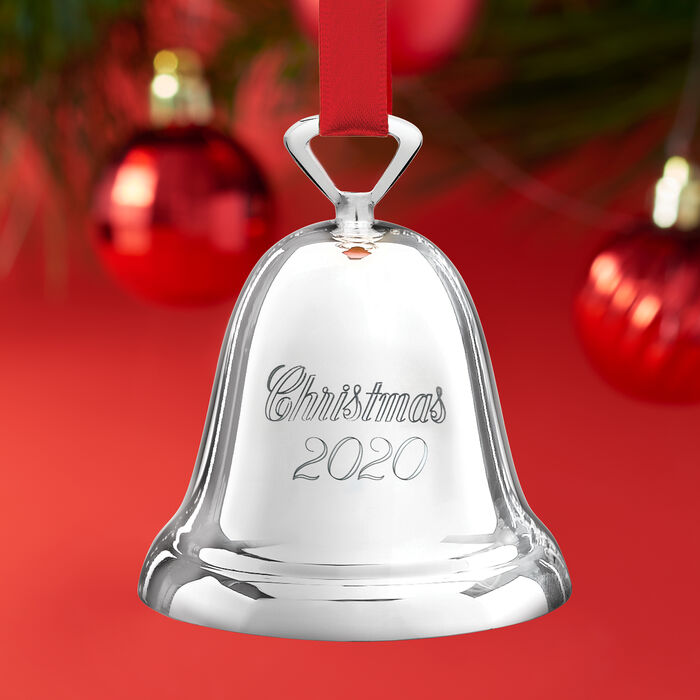 Reed & Barton 2020 Annual Silver Plate Bell Ornament - 53rd Edition