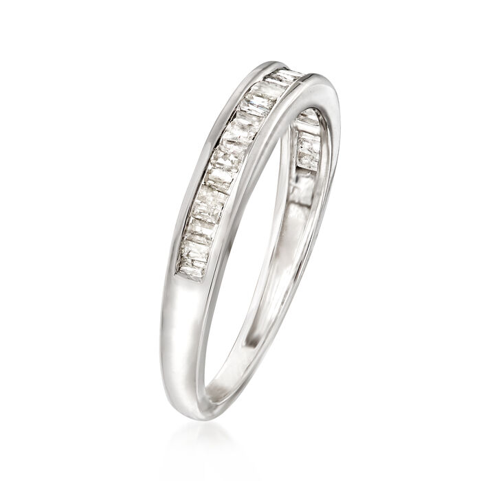 .35 ct. t.w. Baguette Diamond Ring in Sterling Silver