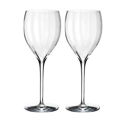 "Waterford Crystal ""Elegance Optic"" Set of Two Crisp White Wine Glasses, , default"