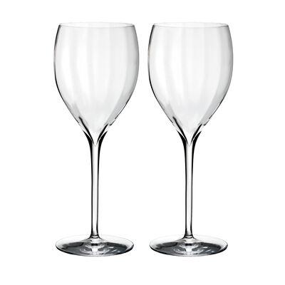 "Waterford Crystal ""Elegance Optic"" Set of Two Crisp White Wine Glasses"