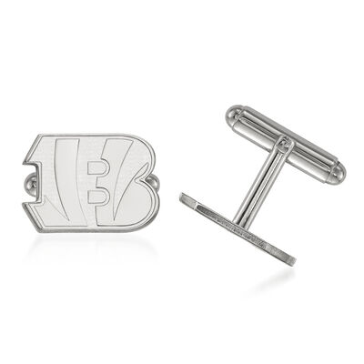 Sterling Silver NFL Cincinnati Bengals Cuff Links, , default