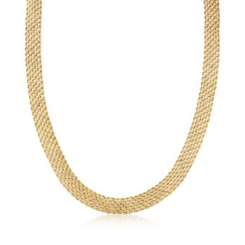 Italian 14kt Yellow Gold Multi-Rope Collar Necklace, , default