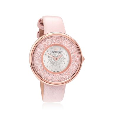 Swarovski Crystal Crystalline Pure Women's Rose Goldtone Stainless Watch with Crystals and Pink Leather    , , default