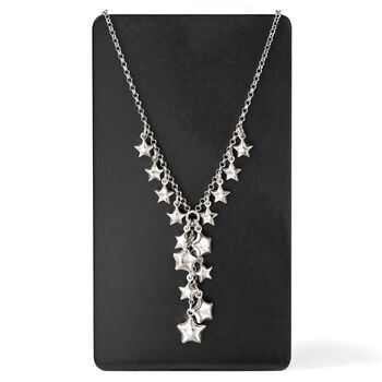 Italian Sterling Silver Star Charm Y-Necklace, , default