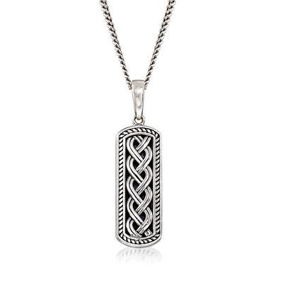 Sterling Silver Celtic Knot Pendant Necklace, , default