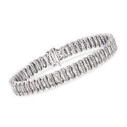 2.00 ct. t.w. Diamond S-Link Bracelet in Sterling Silver, , default