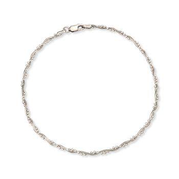 """Sterling Silver Twisted Anklet. 10"""", , default"""