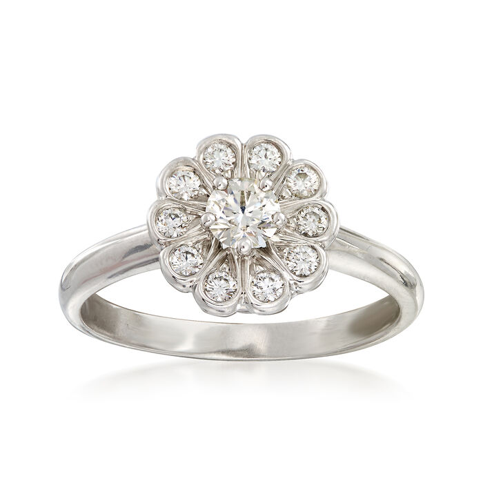 C. 1990 Vintage Tiffany Jewelry .45 ct. t.w. Diamond Cluster Ring in Platinum. Size 6, , default