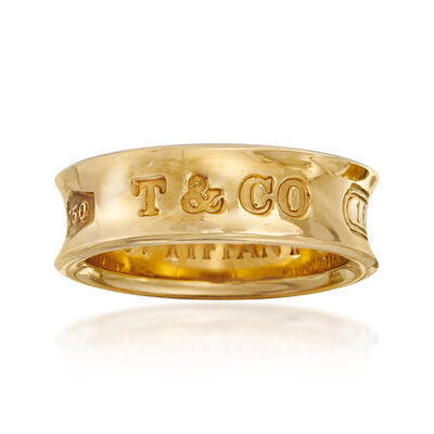 C. 1997 Vintage Tiffany Jewelry 18kt Yellow Gold Ring, , default