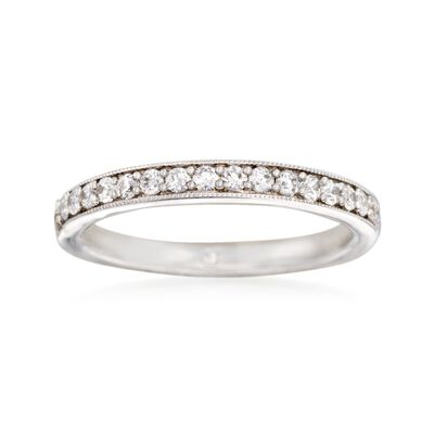 Gabriel Designs .31 ct. t.w. Diamond Wedding Ring in 14kt White Gold