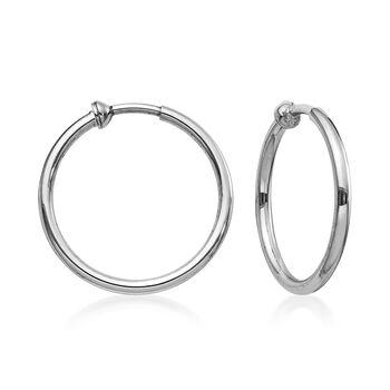 """Sterling Silver Hoop Earrings. 7/8"""", , default"""